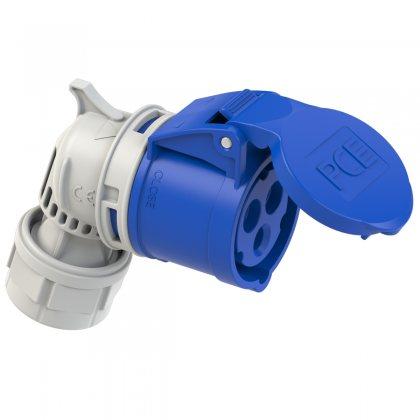 8213-6 PCE Розетка кабельная угловая 16А/230V/1P+N+E/IP44