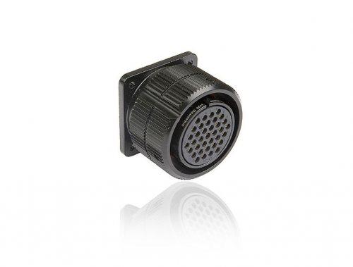 SHD037FPDGC SHD 37 pin розетка панельная, со стопорным кольцом, покрытие контактов золотом, под обжим