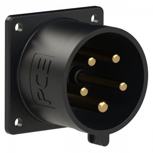 625-6x PCE Вилка встраиваемая 32А/400V/3P+N+E/IP44, черная