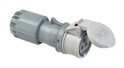 283-10v PCE Розетка кабельная 16А/24-42V/2P+E/IP44, никелированные контакты