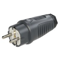 0511-as PCE Вилка кабельная 16A/250V/2P+E/IP54 корпус темносерый, маркер черный