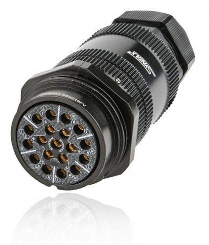 SSX19FV-SSMPNT SSX 19 pin розетка кабельная, серебряное покрытие контактов, под пайку (каб. 19-28мм) M40, контакты вставлены