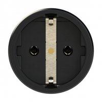 25710-sr PCE Розетка кабельная 16A/250V/2P+E/IP20 корпус черный, маркер красный