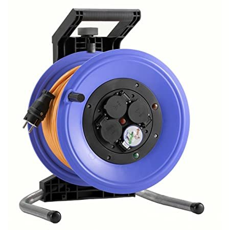 K360QTF HEDI Удлинитель на катушке из пластика D=320мм/4GS/IP44/60м H07BQ-F3G1,5/термозащита