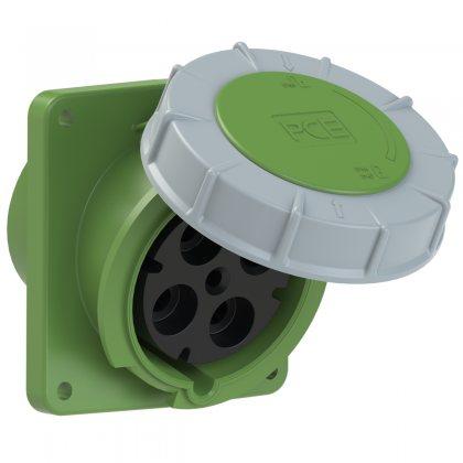 444-2 PCE Розетка встраиваемая наклонная 125А/50-500V/3P+E/IP67
