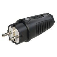 0521-ss PCE Вилка кабельная 16А/250V/2P+E/IP54 корпус черный, маркер черный
