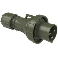 033-6.u PCE Вилка кабельная 63А/230V/2P+E/IP67, бронзово-зеленый
