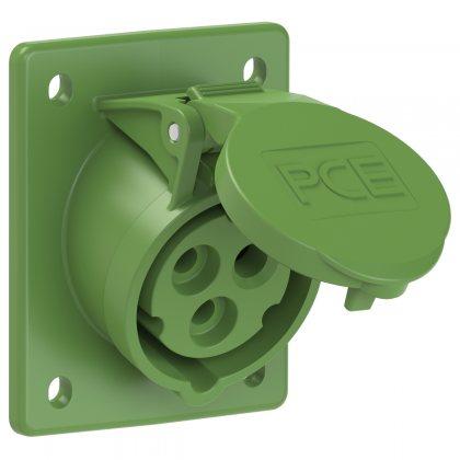 413-2 PCE Розетка встраиваемая наклонная 16А/50-500V/1P+N+E/IP44