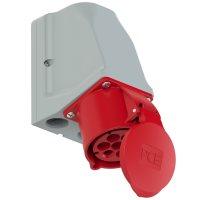 927-6v PCE Розетка настенная 32A/400V/6P+E/IP44, никелированные контакты